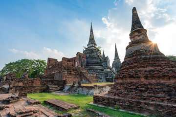 Wall Murals Place of worship Ancient temple in Ayutthaya, Thailand. The temple is on the site of the old Royal Palace of ancient capital of Ayutthaya