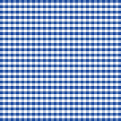 Gingham Check seamless pattern in blue and white, EPS8 file includes pattern swatch that will seamlessly fill any shape, for arts, crafts, fabrics, tablecloths, decorating, scrapbooks.