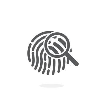 Crime icon on white background