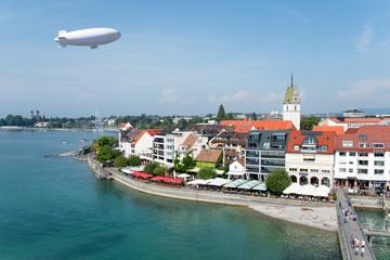 Friedrichshafen, Bodensee, Zeppelin, Stadtpanorama (Deutschland)