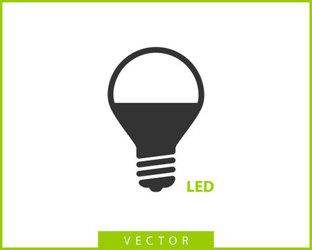 Light bulb icon vector. Llightbulb idea logo concept. Lamp electricity icons web design element. Led lights isolated silhouette.