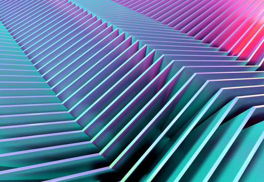 Abstract line texture background 3D rendering