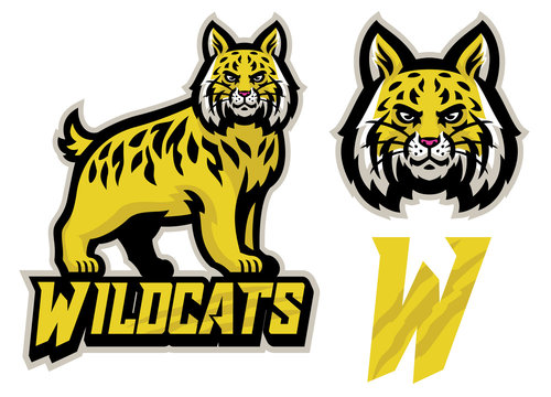 wildcats sport mascot set