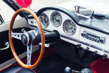 Red Retro Car steering wheel
