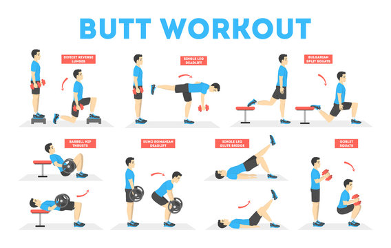 Man doing different exercise for fit body