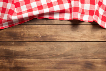 cloth napkin on at rustic wooden plank Fototapete
