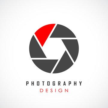 Photography abstract vector logo design