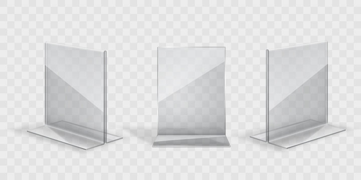 transparent acril display stand set