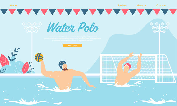 Water Polo Competition or Training with Sportsmen