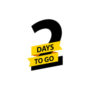 Number 2 of days to go. Collection badges sale, landing page, banner.Vector illustration.