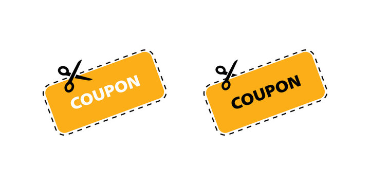 Coupon vector icon. Vector Discount Coupons icons. Coupon icons in flat design