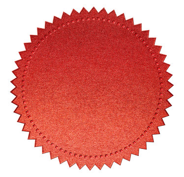 red diploma or certificate seal isolated