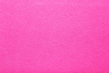Hot pink felt texture abstract art background. Colored fabric fibers surface. Empty space. Wall mural