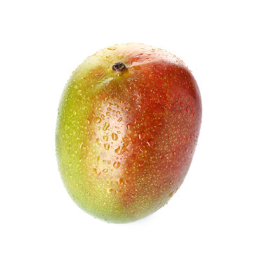 Tasty fresh mango on white background