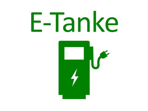 Schild E-Tanke