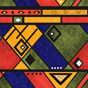 Seamless african ethno traditional texture pattern
