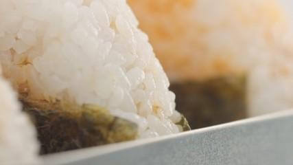 macro rice texture of onigiri