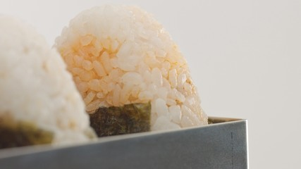 macro rice texture of onigiri