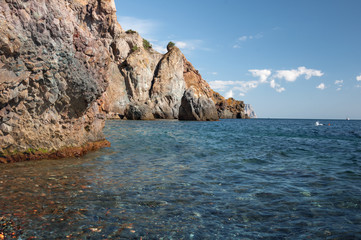 Rocky Black Sea Coast, Jasper Beach, Cape Fiolent, Sevastopol, Crimea, Russia