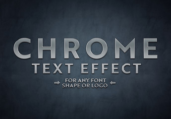 Chrome Text Effect Mockup