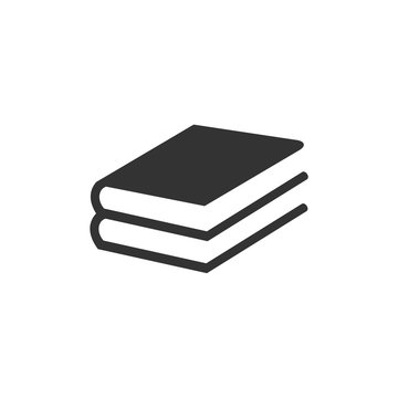 Book flat icon vector illustration on white background. smart learning education book shop store vector logo design template