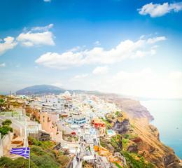 Thira, the capital of Santorini island