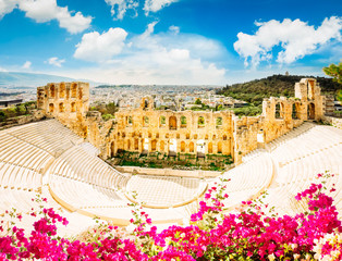 Wall Mural - Herodes Atticus amphitheater of Acropolis, Athens