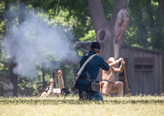 American Civil War Battle Reenactment