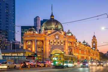 Melbourne Flinders Street Train Station in Australia