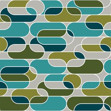 Geometry seamless pattern in vintage 70s style.