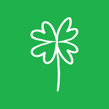 Good luck hand drawn shamrock. Lucky charm doodle.