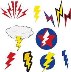 lightning bolt set