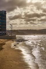 """Las Canteras"" - City Beach of Las Palmas in the Winter (December) - Capital of the spanish island Gran Canaria"