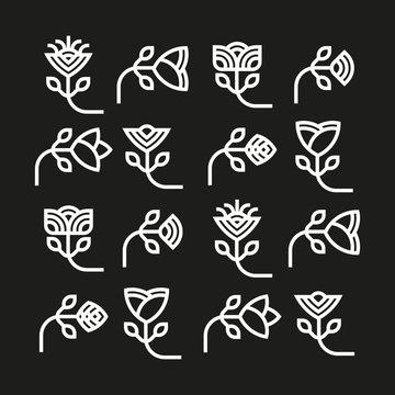 Etniczny motyw kwiatowy