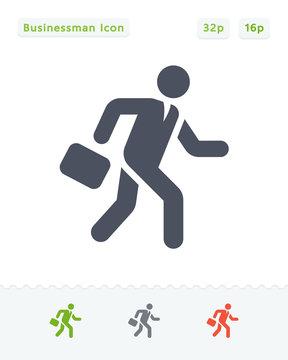 Running Businessman - Sticker Icons