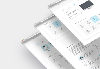 Company Portfolio Website Layout Set