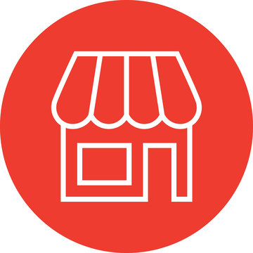 Retail Store Shop Outline Icon