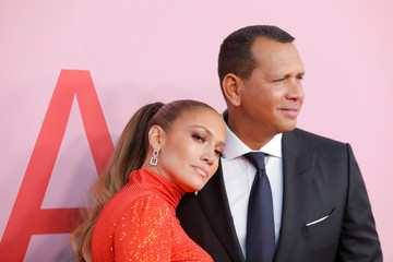 Jennifer Lopez and Alex Rodriguez arrive for the 2019 CFDA Awards at The Brooklyn Museum in New York