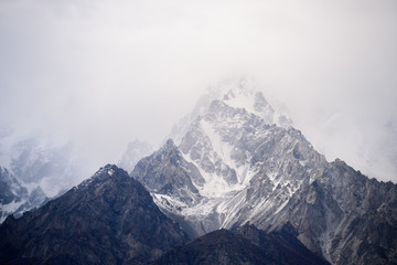 beautiful mountain in nature landscape view from Pakistan Wall mural