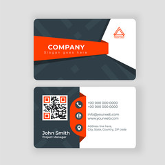 Two sided presentation of professional business or visiting card design.