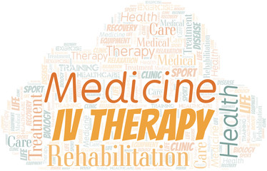 Iv Therapy word cloud. Wordcloud made with text only.