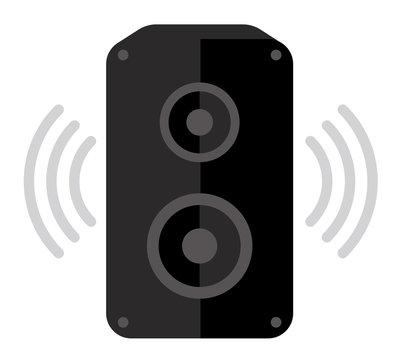 Audio speaker flat vector icon