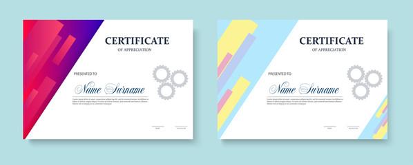 Certificate of appreciation template design. Trendy geometric design. Layered. Vector  eps10