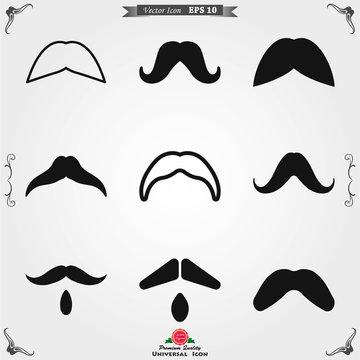 Mustache icon logo, illustration, vector sign symbol for design