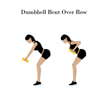 Dumbbell bent over row exercise