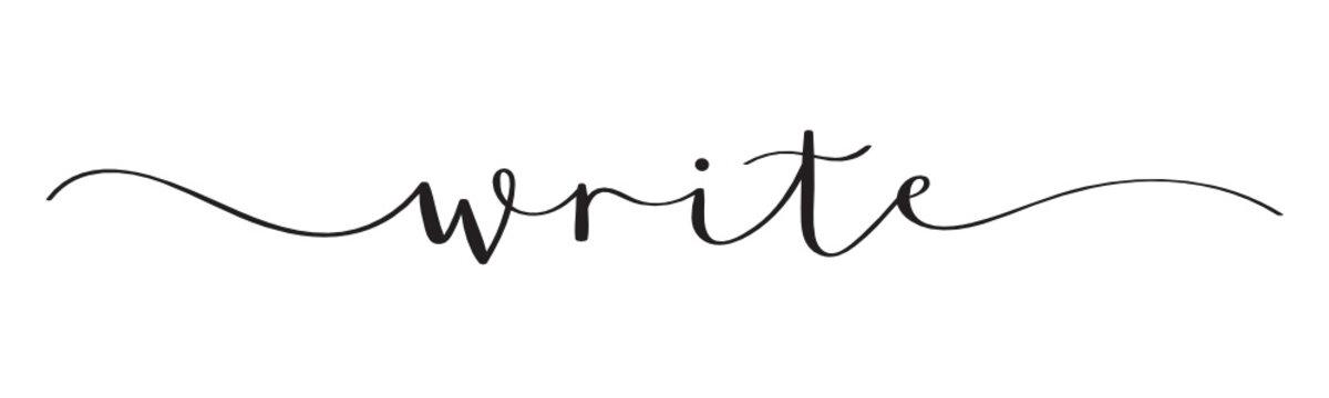 WRITE black vector brush calligraphy banner