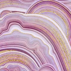 abstract background, fake stone texture, agate with pink and gold veins, painted artificial marbled surface, fashion marbling illustration