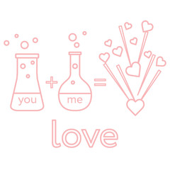 You and me and our chemistry of love.