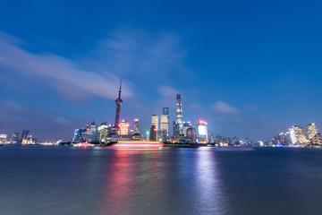 Fotobehang - shanghai skyline at night