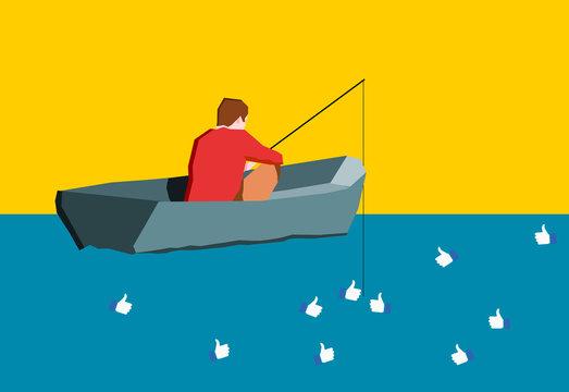 Fisherman of socialmedia